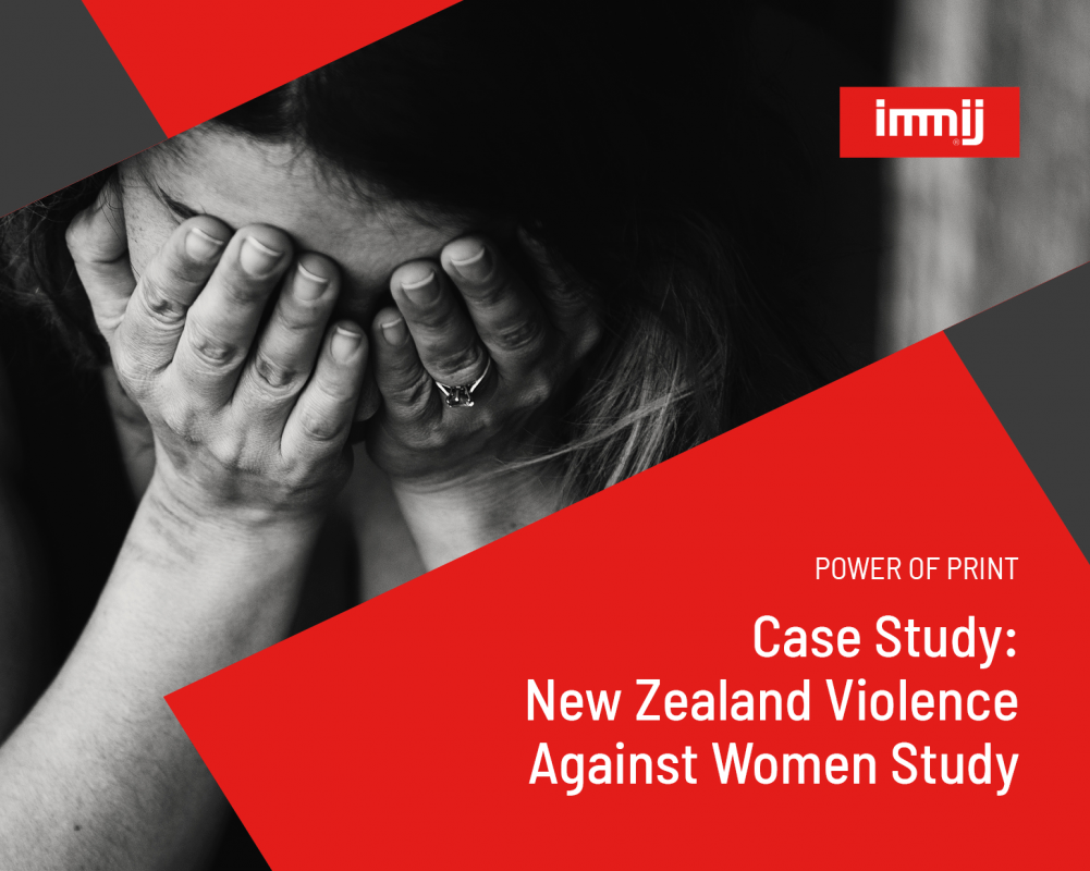 Power of Print Case Study: New Zealand Violence Against Women Study