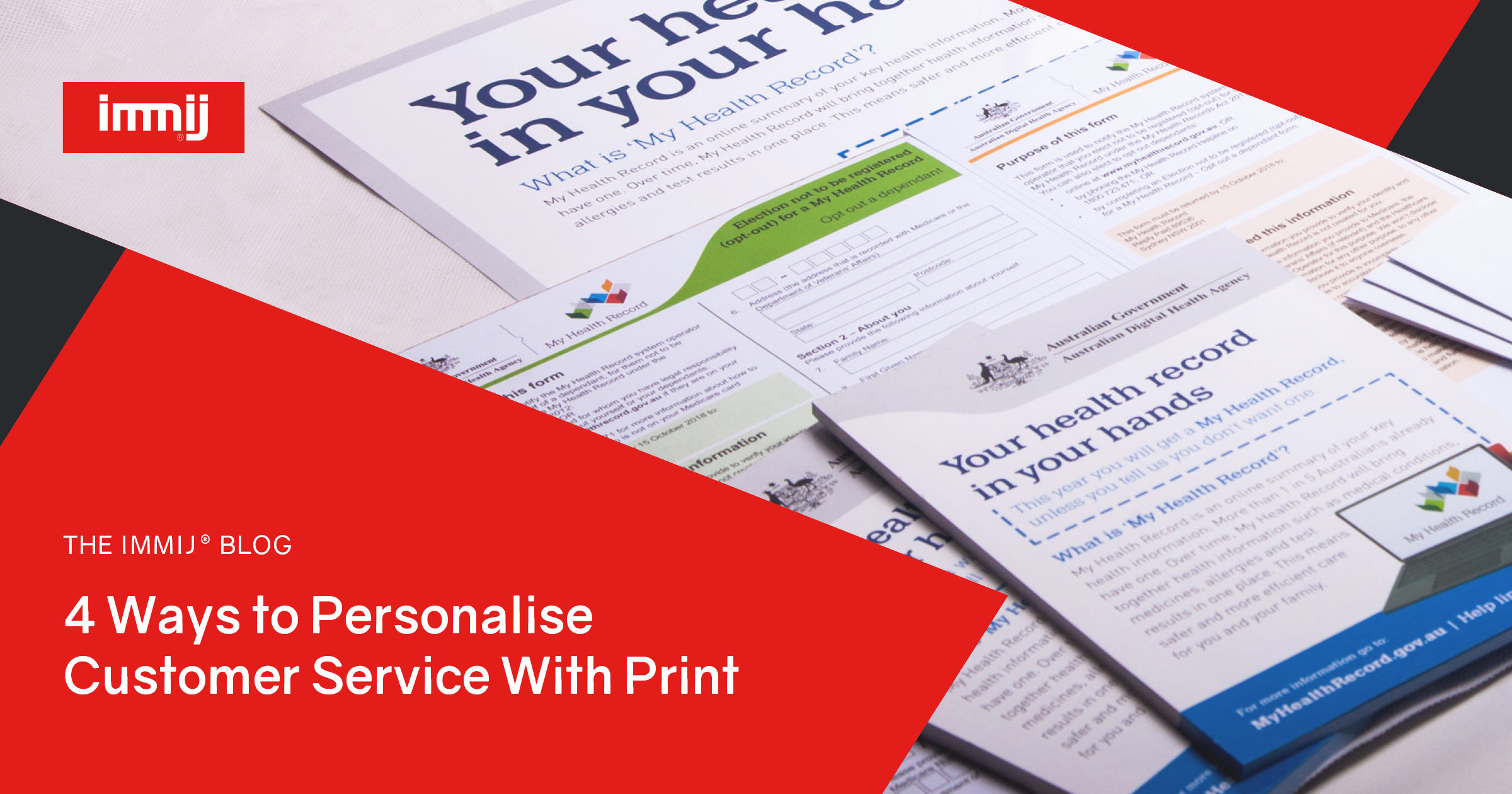 4 Ways to Personalise Customer Service with Print - Immij - Printing