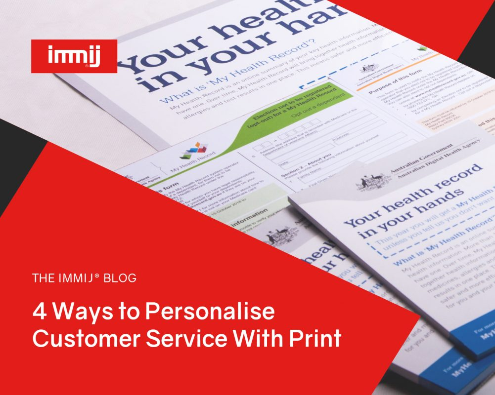 4 Ways to Personalise Customer Service with Print